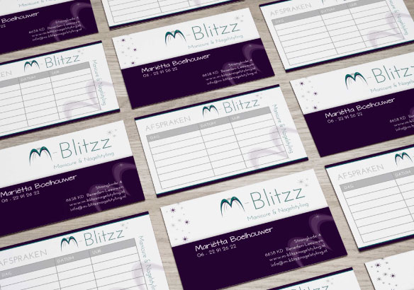 M Blitzz afsprakenkaartjes